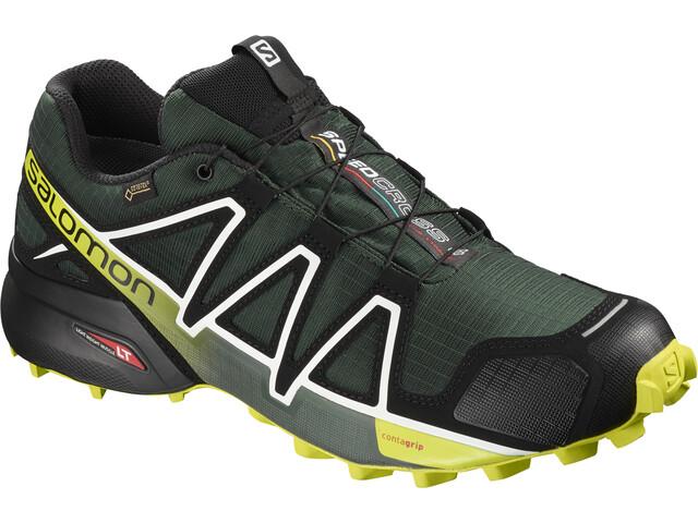 Salomon Speedcross 4 GTX Shoes Herren darkest spruce/black/acid lime